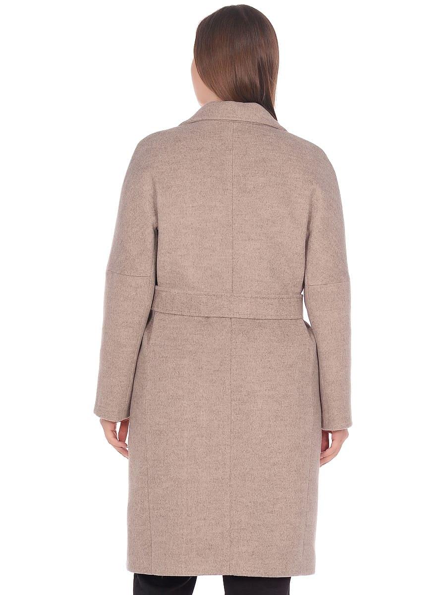 Женское демисезонное пальто hr-012 бежевое фото-3