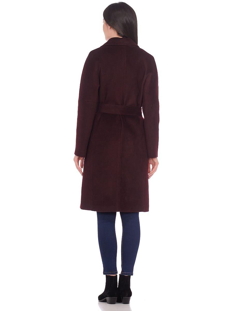 Женское демисезонное пальто hr-012 вишневое фото-3