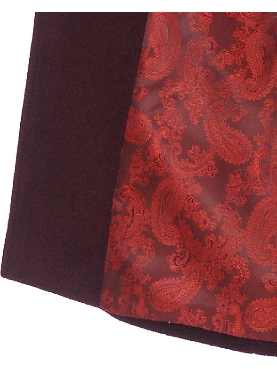 Женское демисезонное пальто hr-012 вишневое фото-4