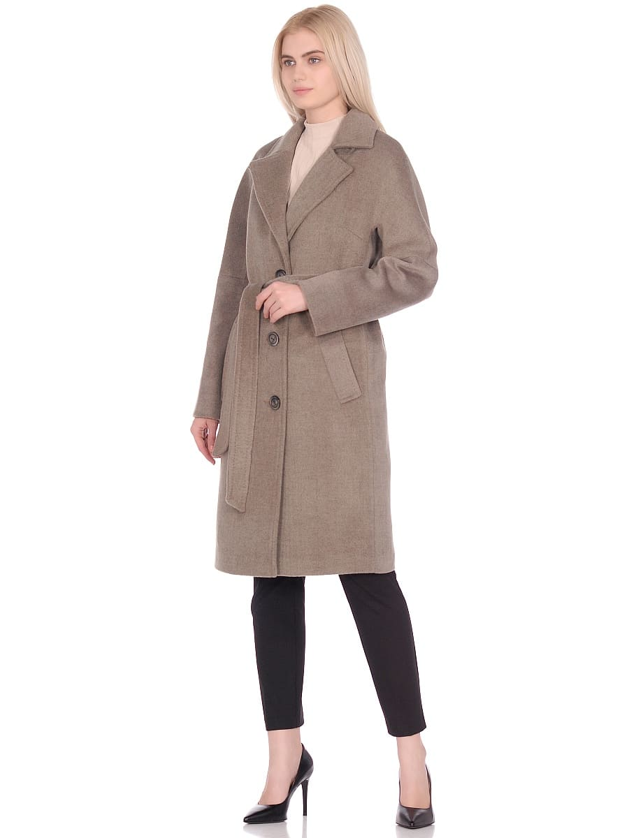Женское демисезонное пальто hr-012 светло-оливковое фото-1