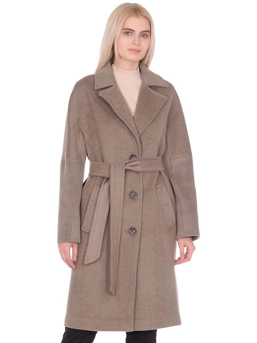 Женское демисезонное пальто hr-012 светло-оливковое фото-2