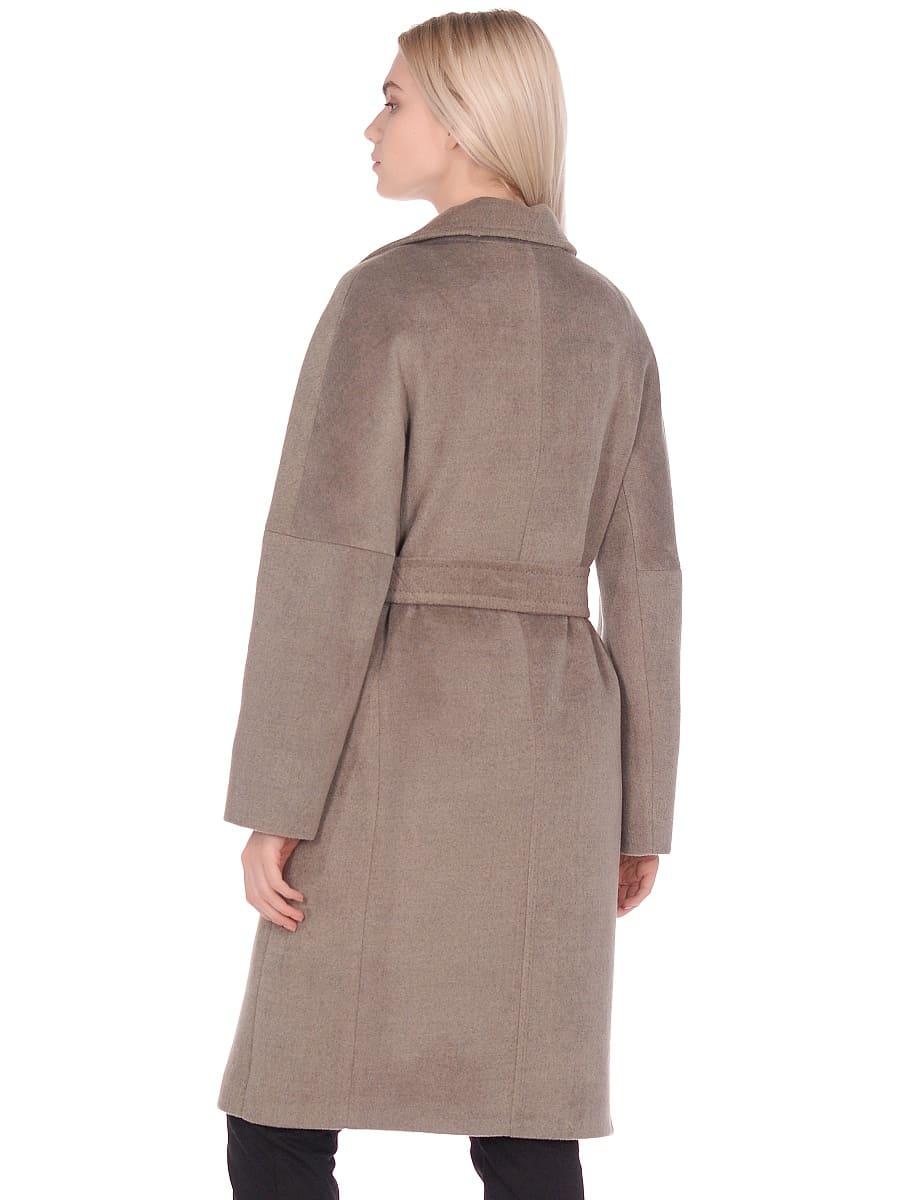 Женское демисезонное пальто hr-012 светло-оливковое фото-3
