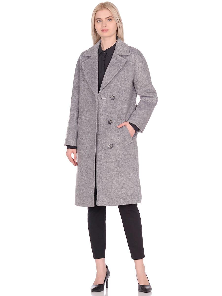 Женское демисезонное пальто hr-012 серое фото-1