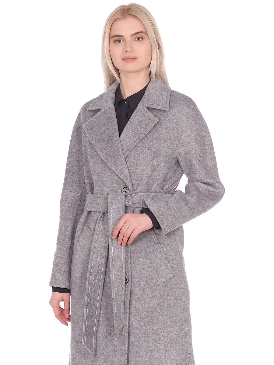 Женское демисезонное пальто hr-012 серое фото-2