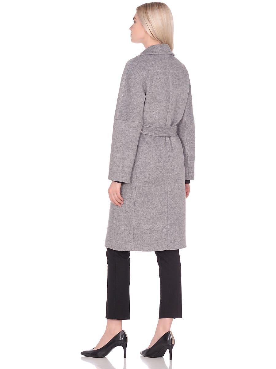 Женское демисезонное пальто hr-012 серое фото-3