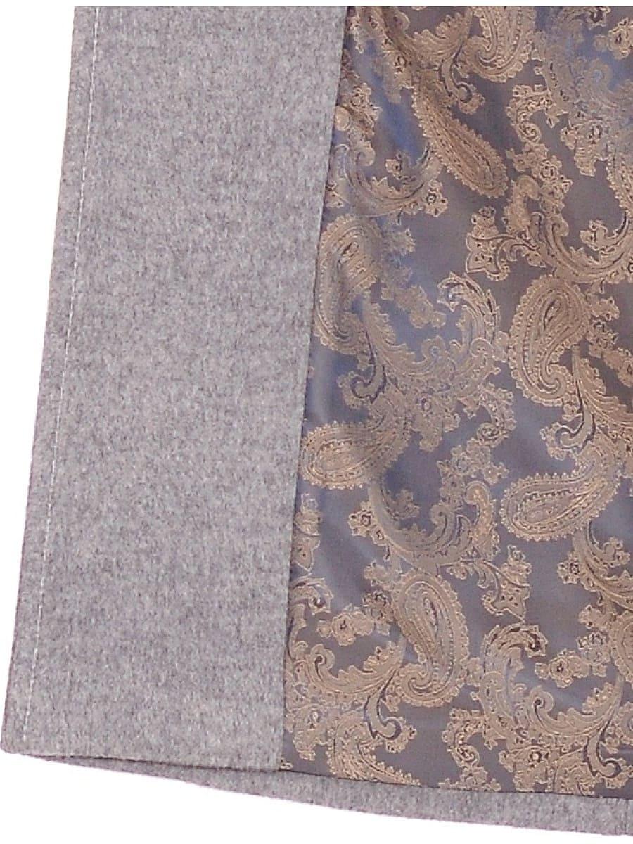 Женское демисезонное пальто hr-012 серое фото-4