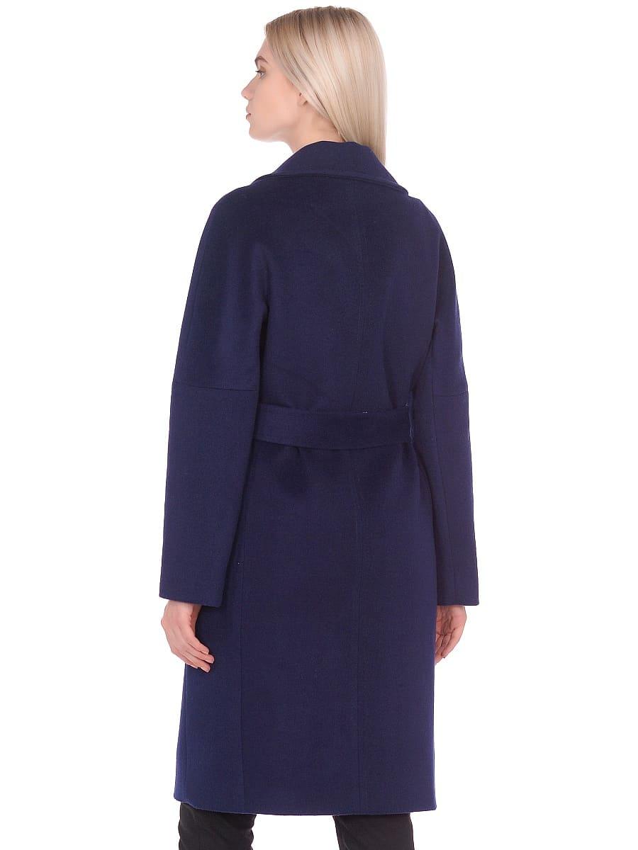 Женское демисезонное пальто hr-012 синее фото-3