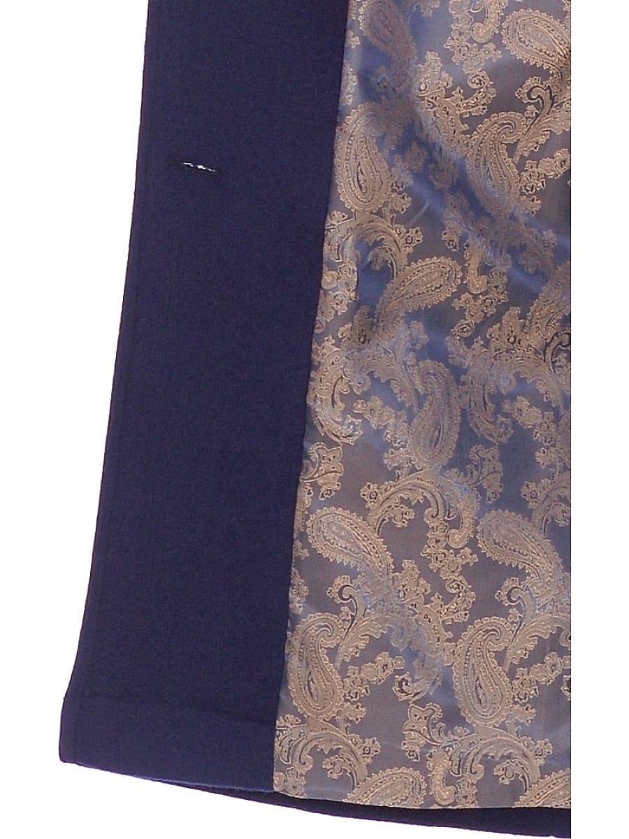Женское демисезонное пальто hr-012 синее фото-4