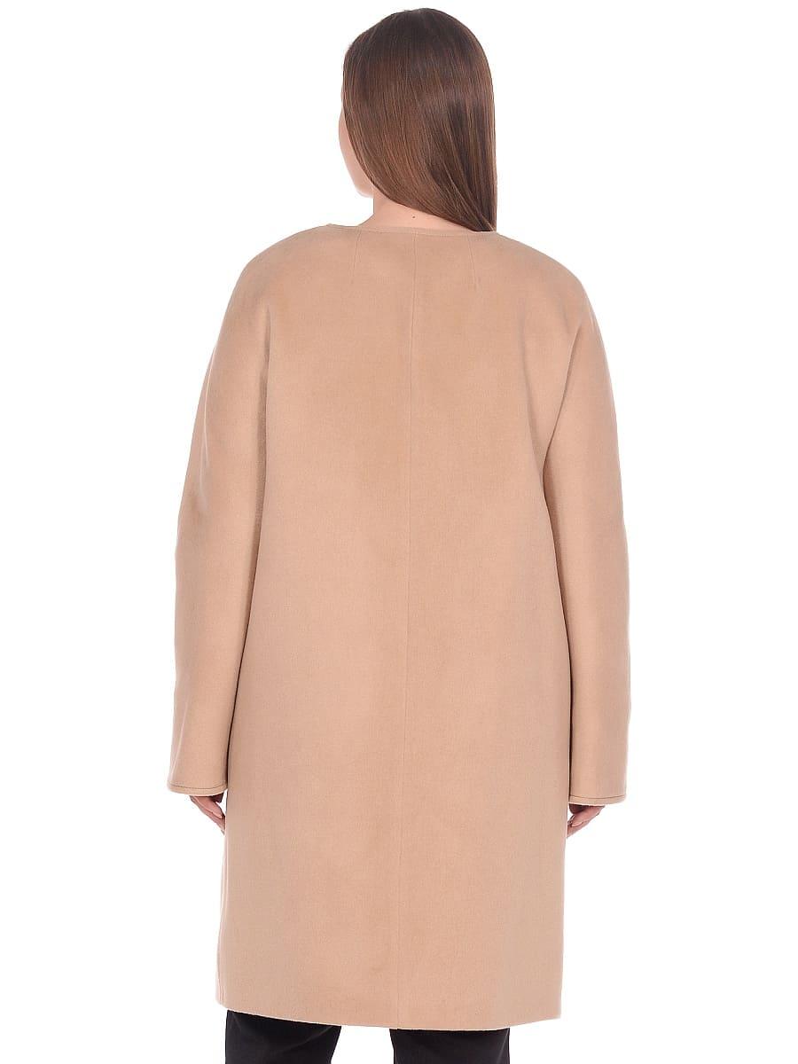 Женское демисезонное пальто hr-021 бежевое фото-3