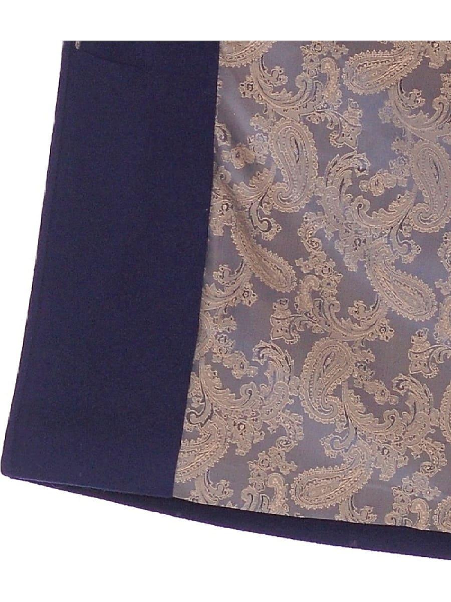 Женское демисезонное пальто hr-021 синее фото-5