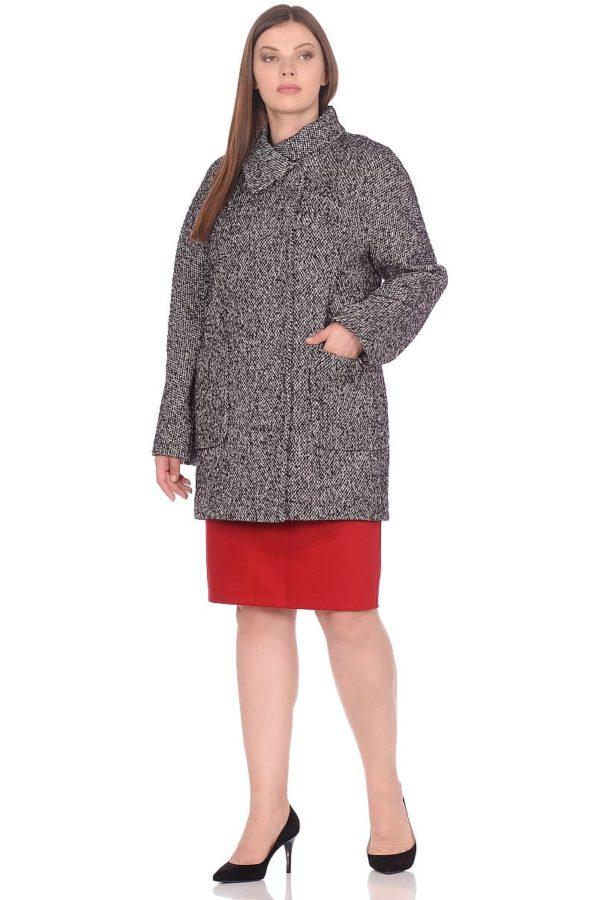 Женское демисезонное пальто hr-023 серое фото-1