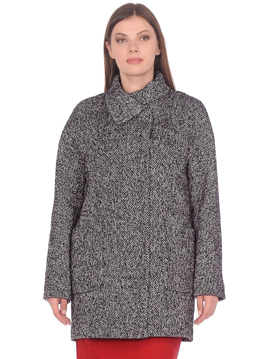 Женское демисезонное пальто hr-023 серое фото-2