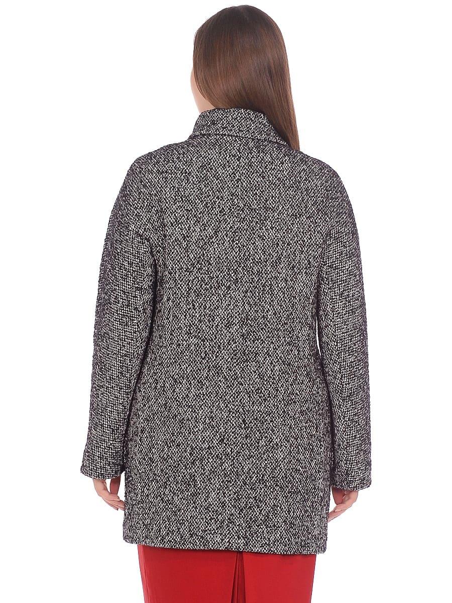 Женское демисезонное пальто hr-023 серое фото-3