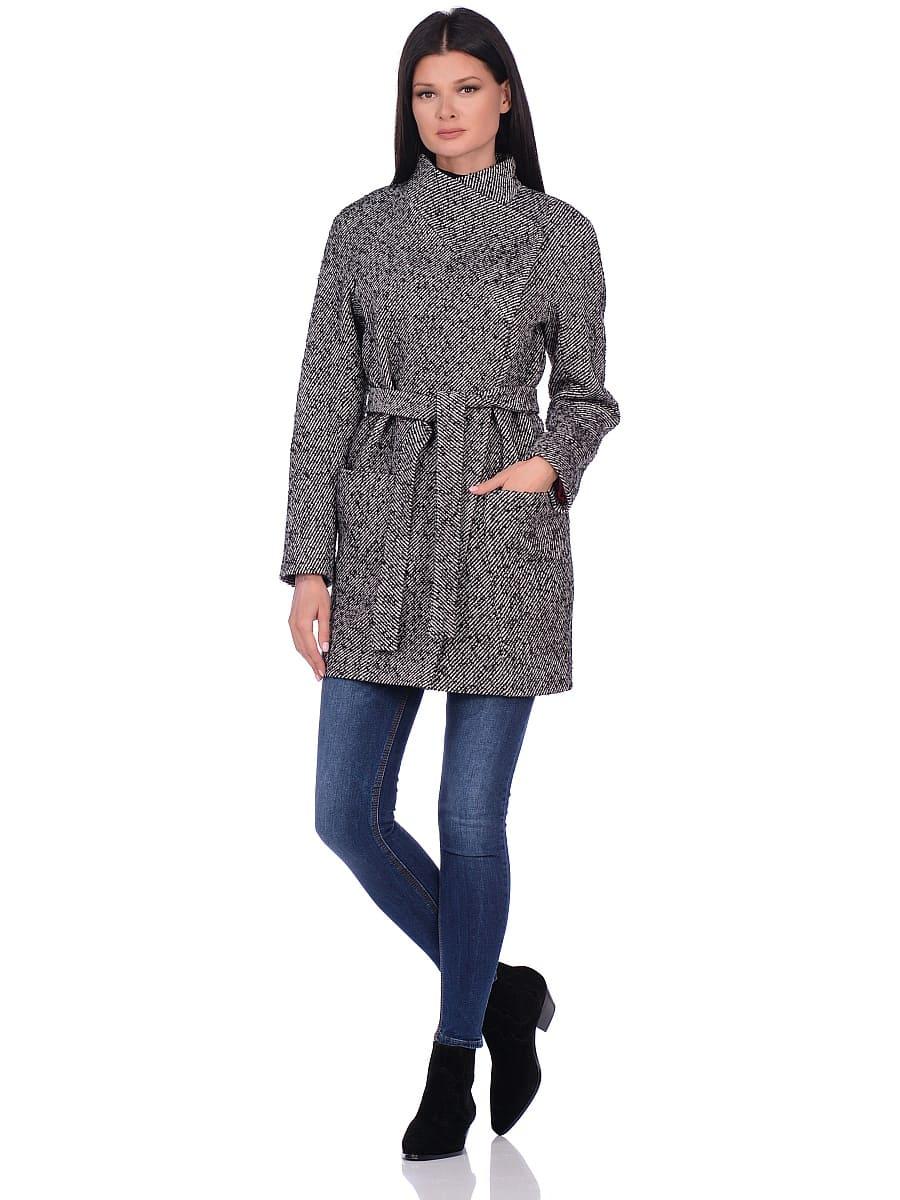 Женское демисезонное пальто hr-022 серое фото-1