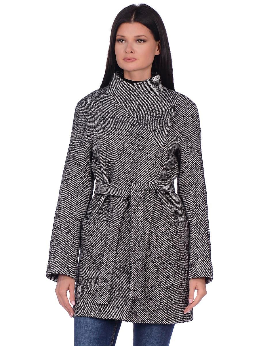 Женское демисезонное пальто hr-022 серое фото-2