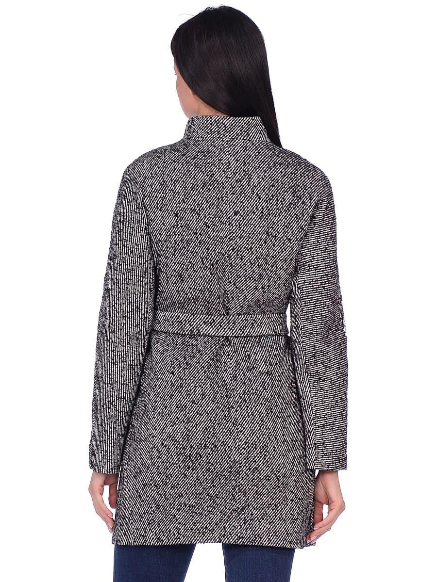 Женское демисезонное пальто hr-022 серое фото-3