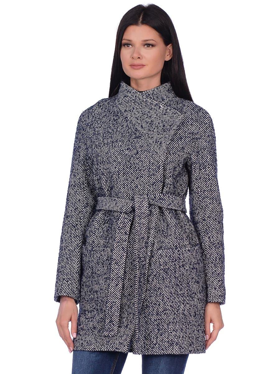 Женское демисезонное пальто hr-022 синее фото-2