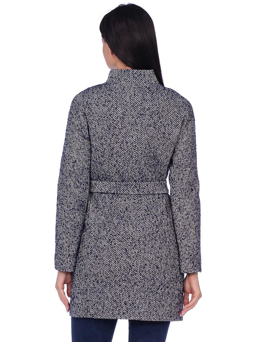Женское демисезонное пальто hr-022 синее фото-3