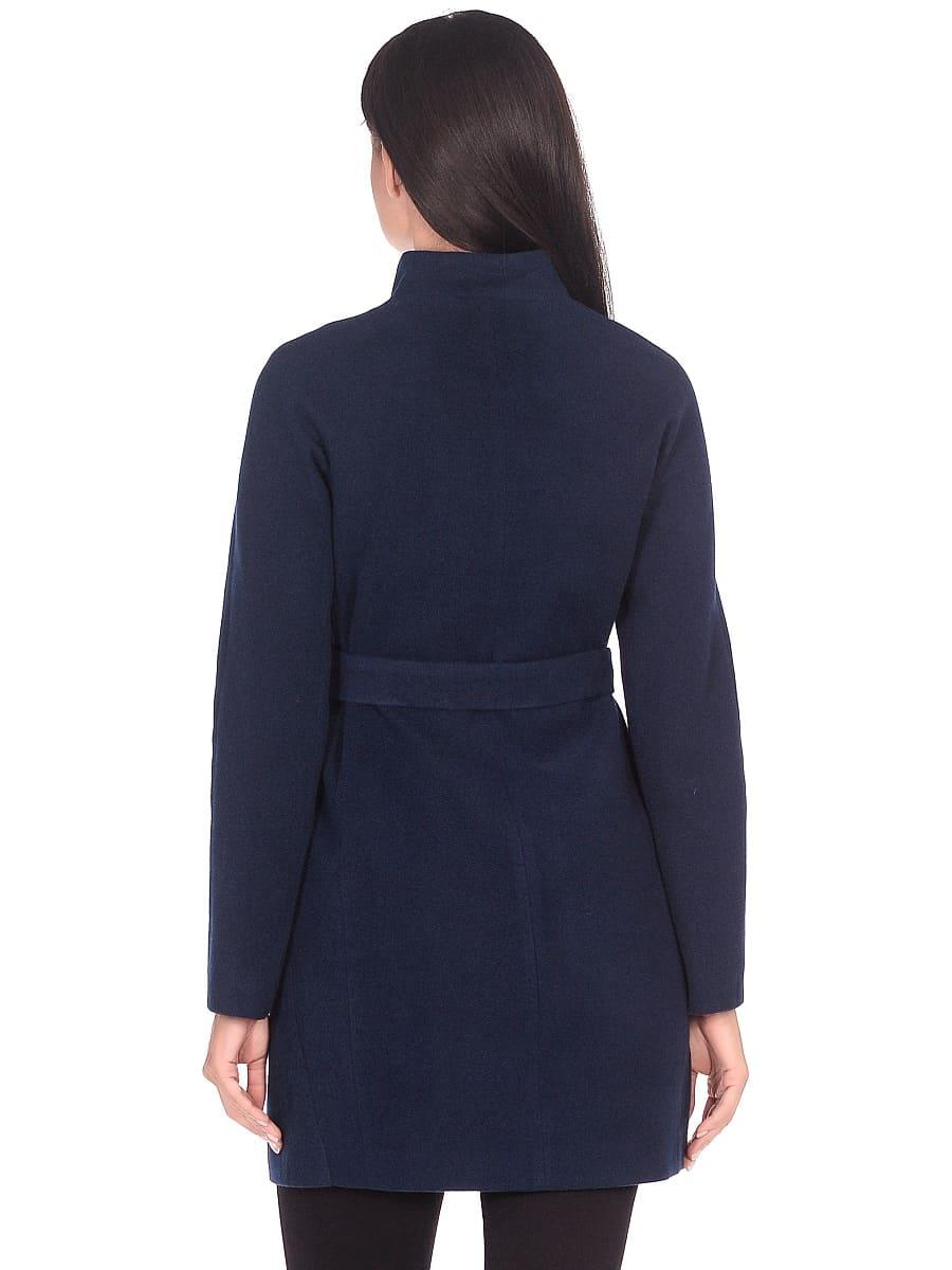 Женское демисезонное пальто hr-022a синее фото-3