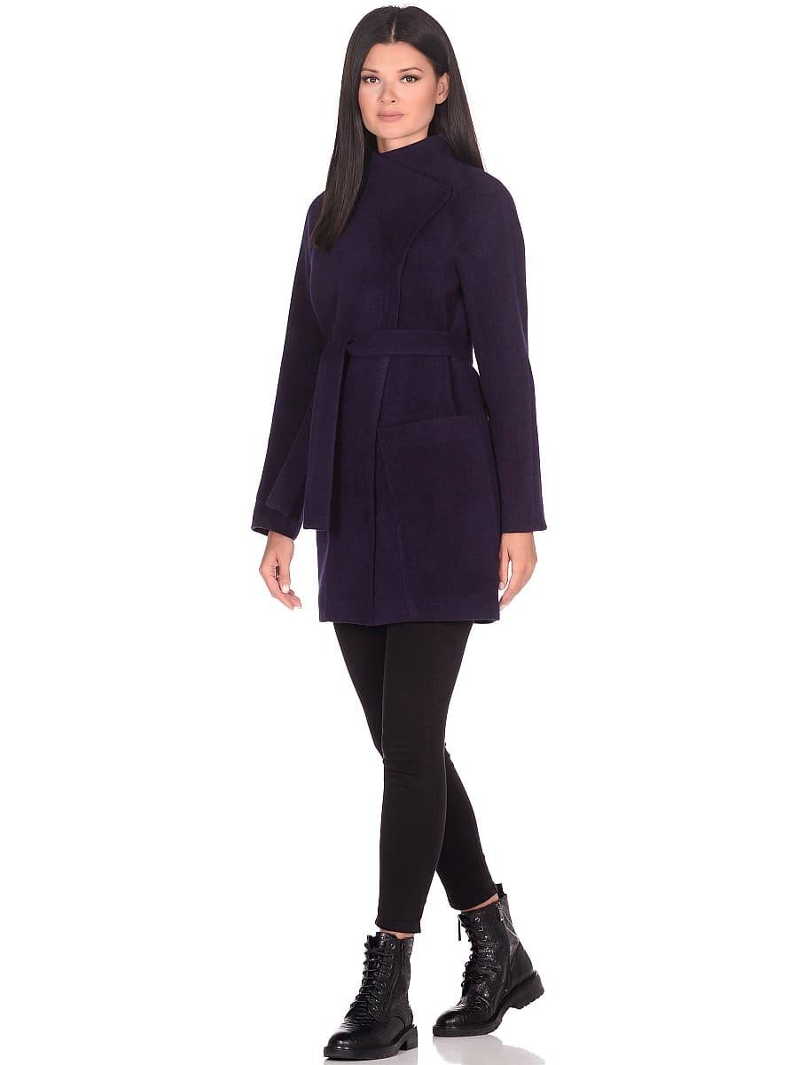 Женское демисезонное пальто hr-022a фиолетовое фото-1