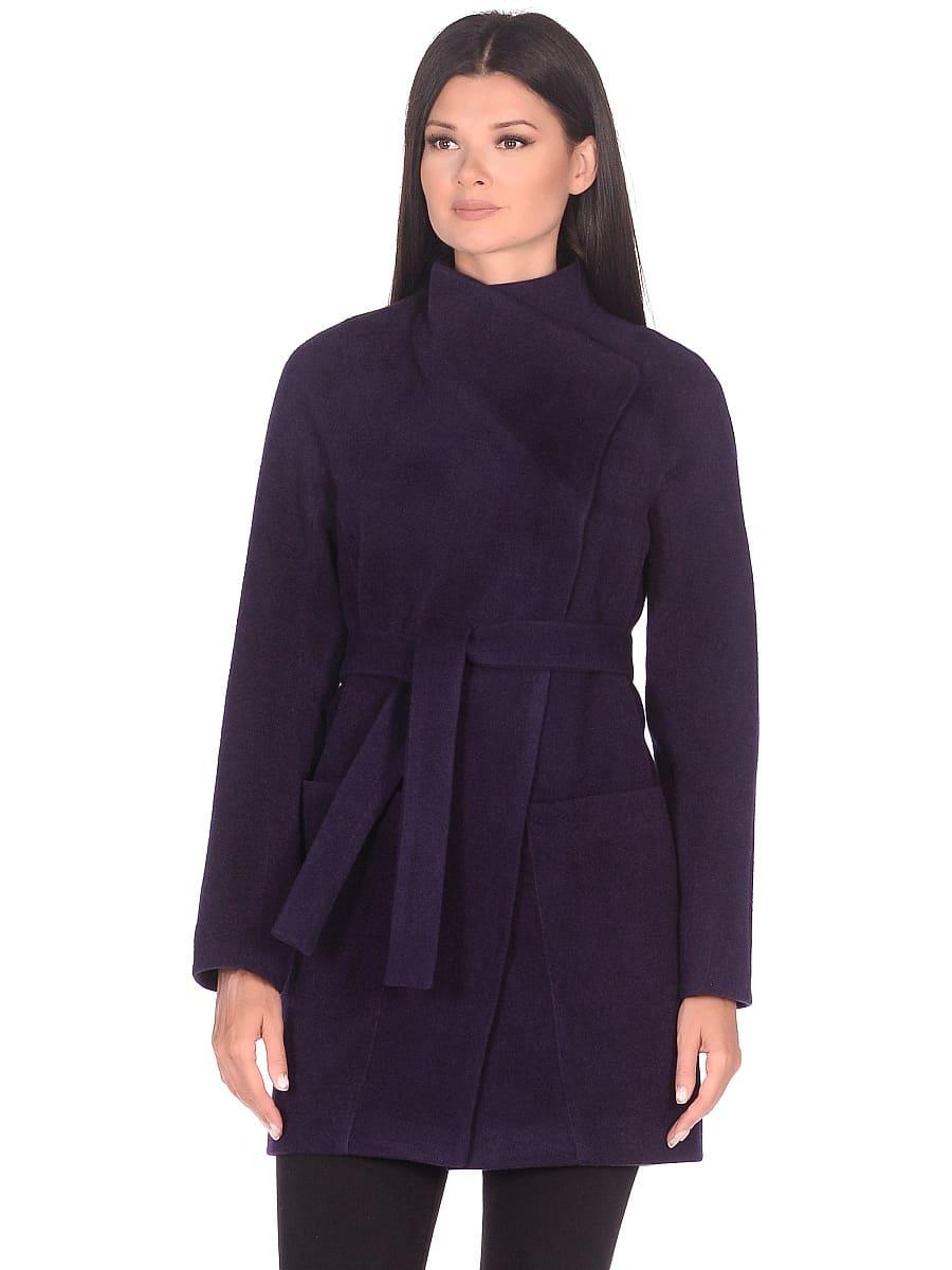Женское демисезонное пальто hr-022a фиолетовое фото-2