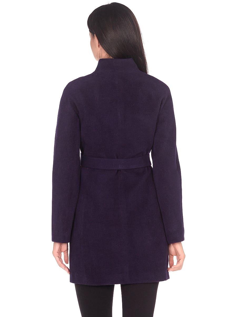 Женское демисезонное пальто hr-022a фиолетовое фото-3