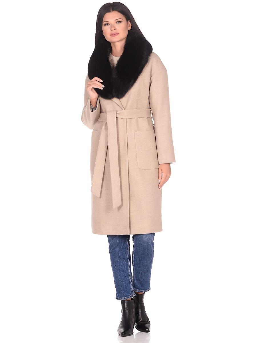 Женское зимнее пальто hr-009 бежевое фото-1