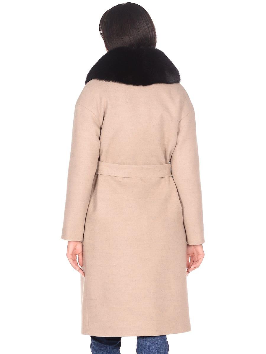 Женское зимнее пальто hr-009 бежевое фото-3