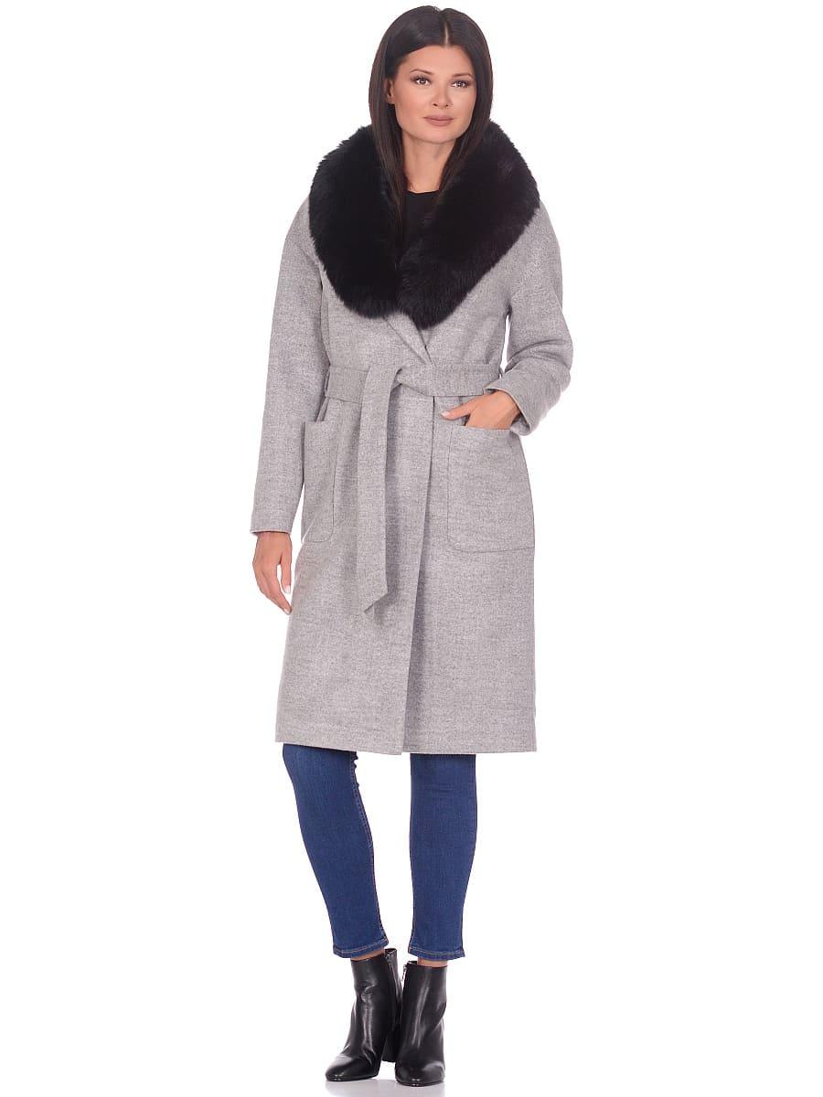 Женское зимнее пальто hr-009 светло-серое фото-1