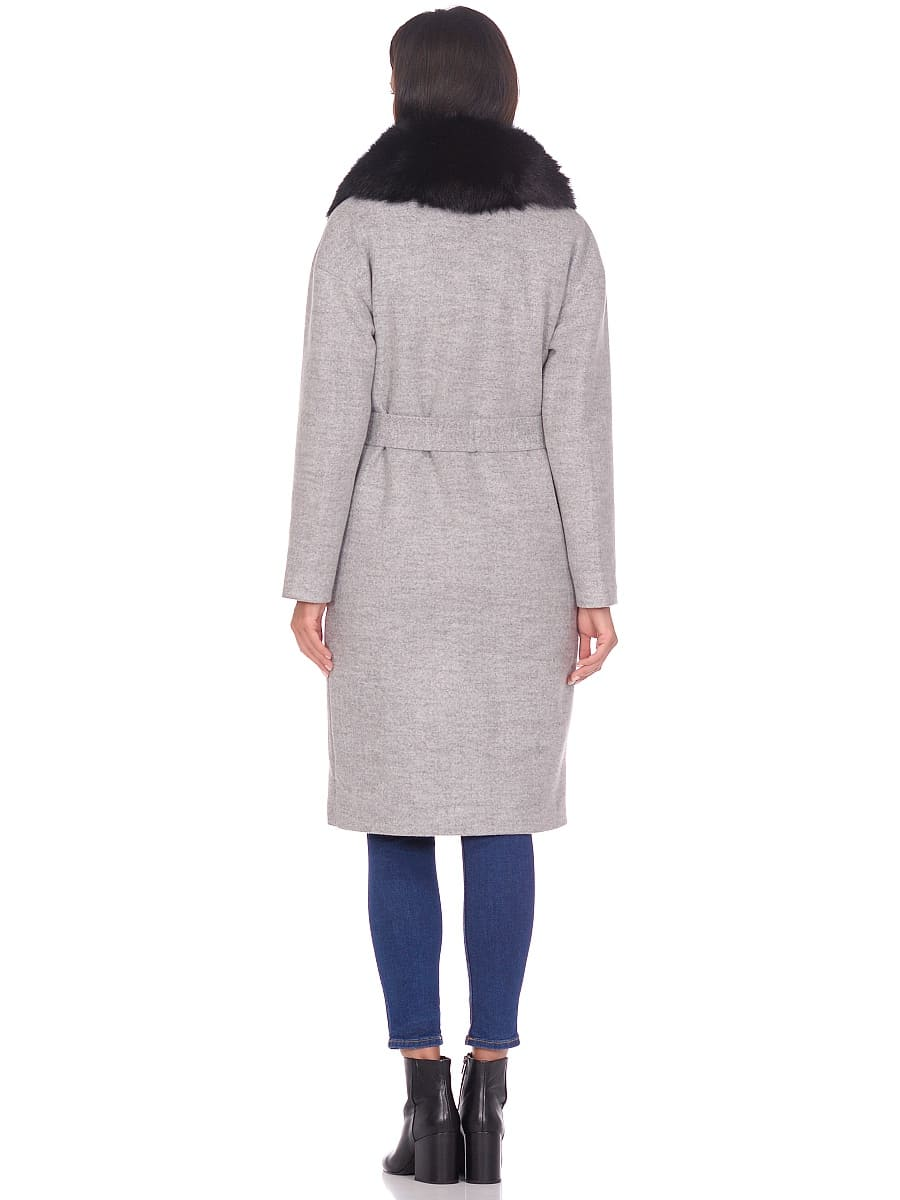 Женское зимнее пальто hr-009 светло-серое фото-3