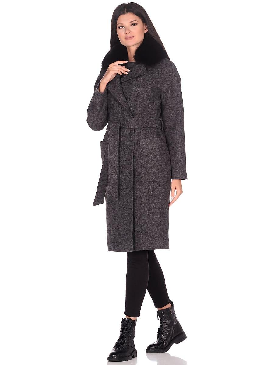 Женское зимнее пальто hr-009 серое фото-1