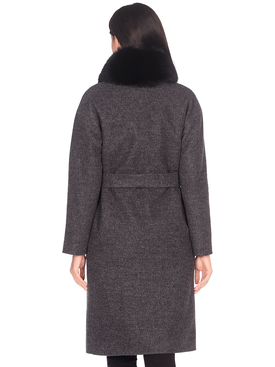 Женское зимнее пальто hr-009 серое фото-3