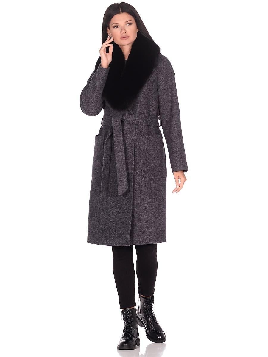 Женское зимнее пальто hr-009 синее фото-1