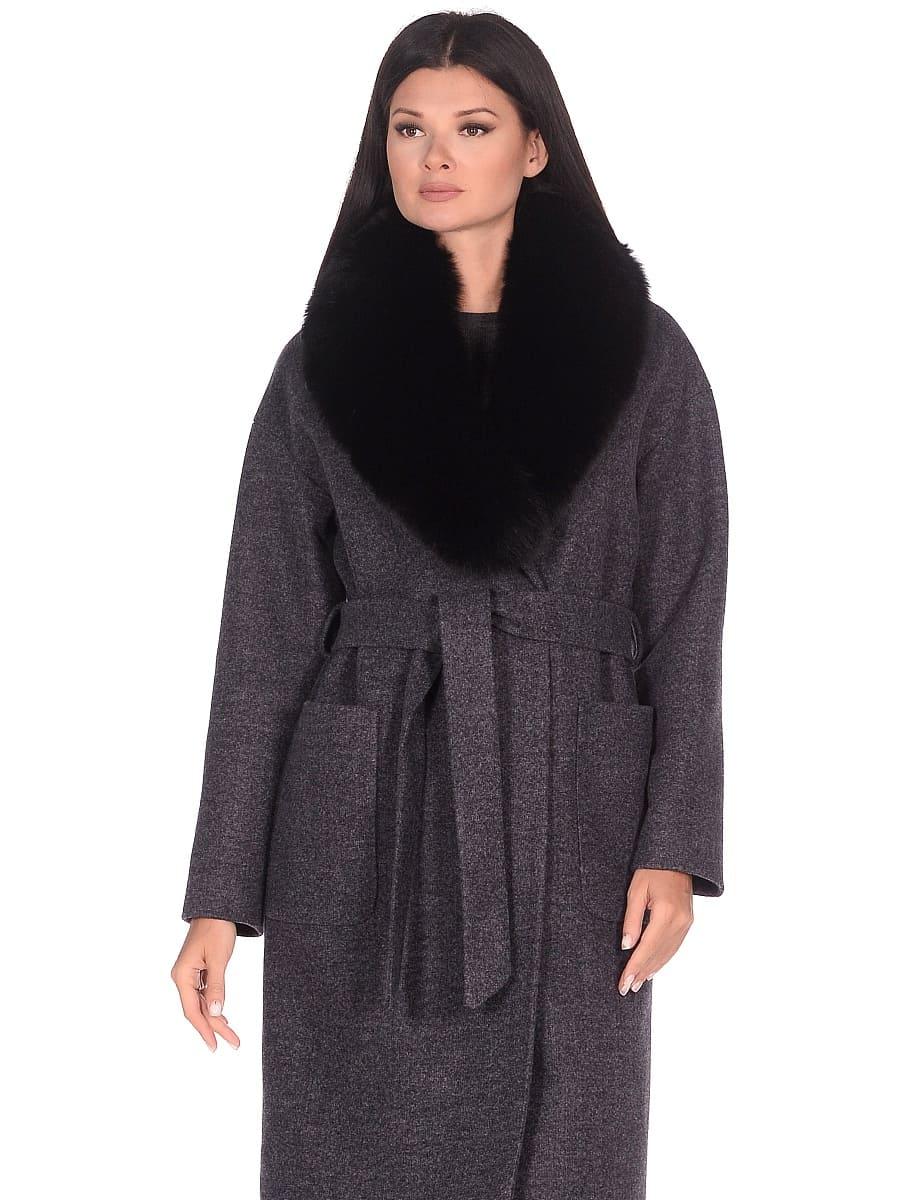 Женское зимнее пальто hr-009 синее фото-2