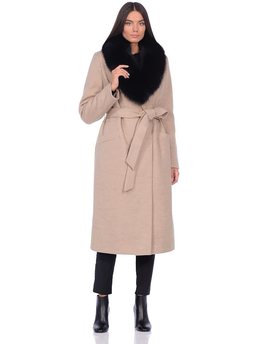 Женское зимнее пальто hr-014 светло-бежевое фото-1