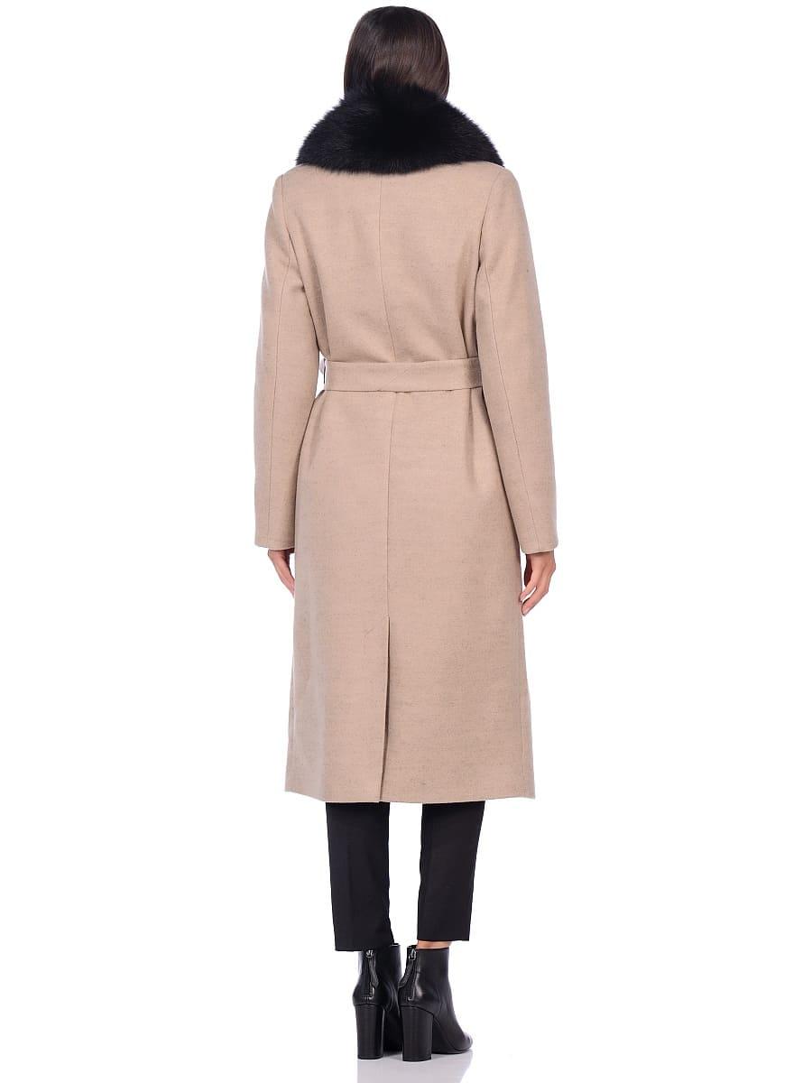 Женское зимнее пальто hr-014 светло-бежевое фото-3