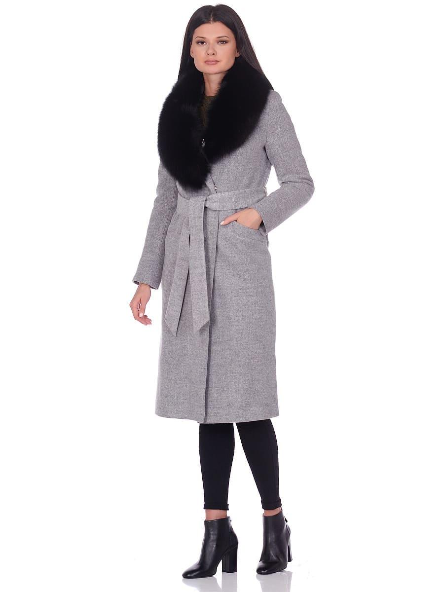 Женское зимнее пальто hr-014 светло-серое фото-1