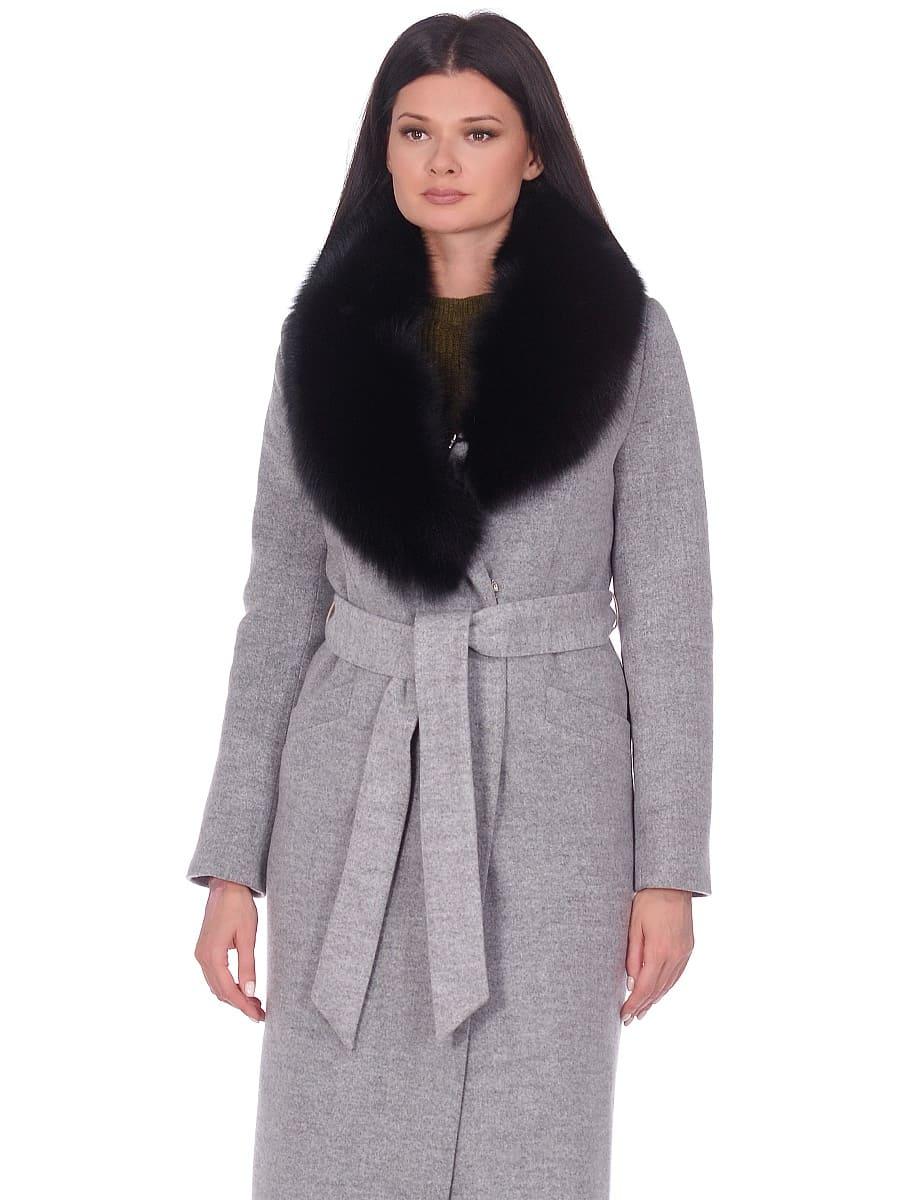 Женское зимнее пальто hr-014 светло-серое фото-2