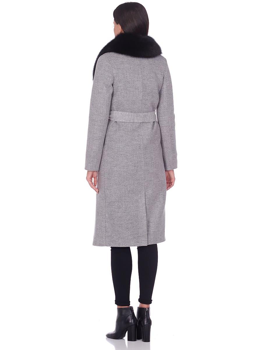 Женское зимнее пальто hr-014 светло-серое фото-3