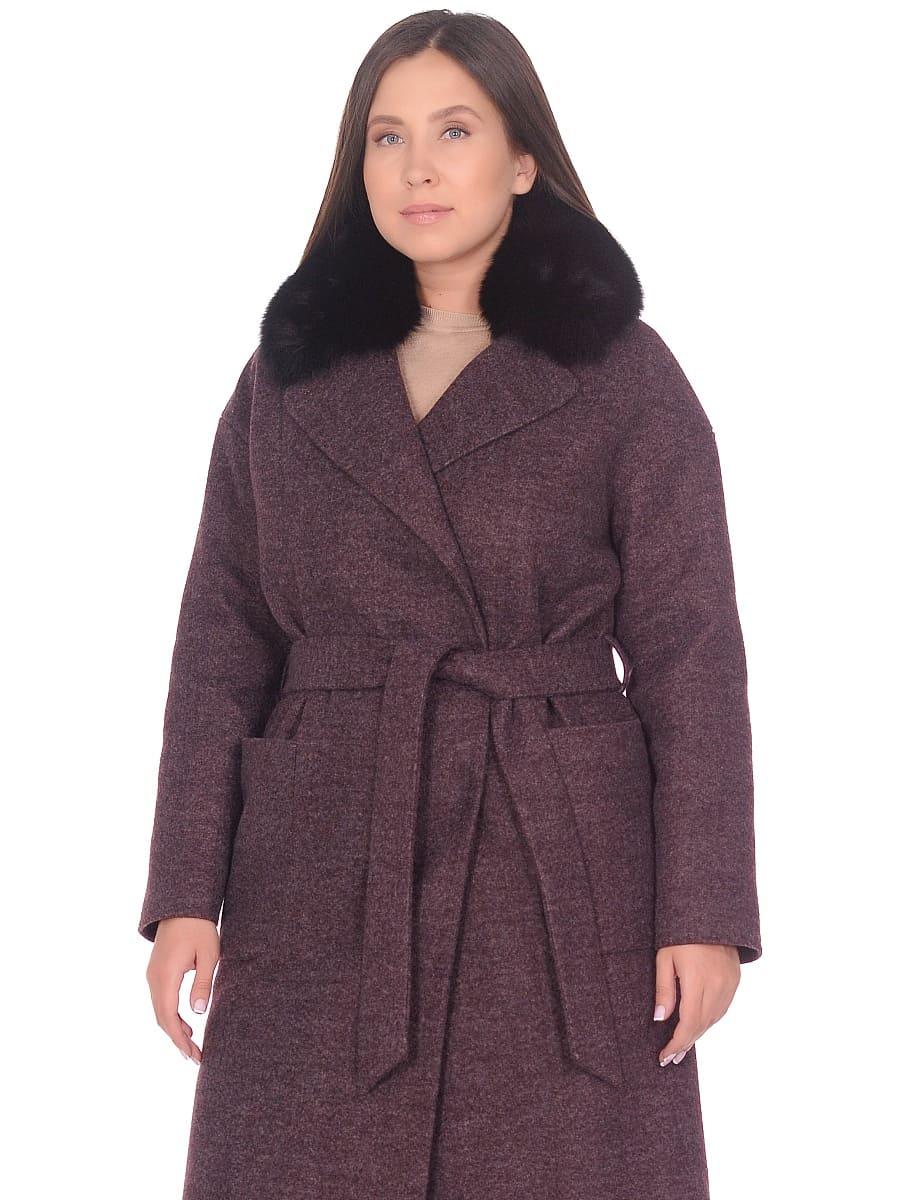 Женское зимнее пальто hr-009 сливовое фото-2