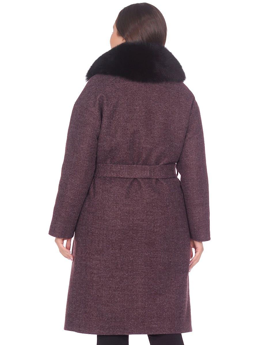Женское зимнее пальто hr-009 сливовое фото-3