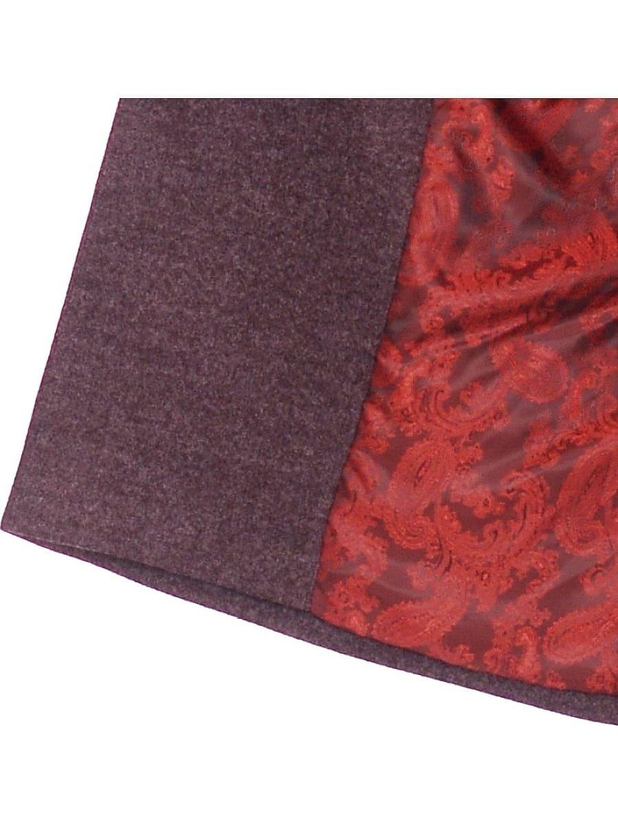 Женское зимнее пальто hr-009 сливовое фото-4