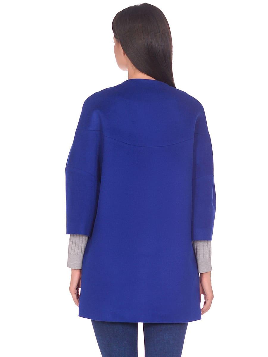 Женское демисезонное пальто hr-019 васильковое фото-3