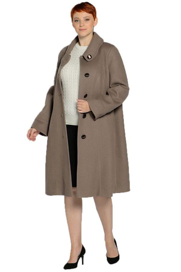 Женское демисезонное пальто hr-008a бежевое фото-1
