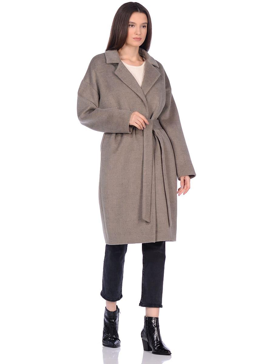 Женское демисезонное пальто hr-001a светло-оливковое фото-1