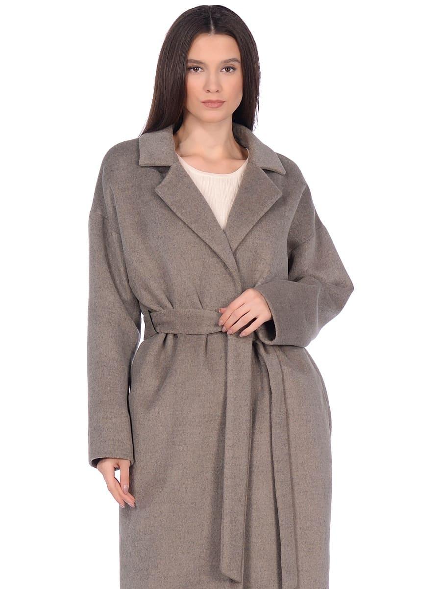 Женское демисезонное пальто hr-001a светло-оливковое фото-2