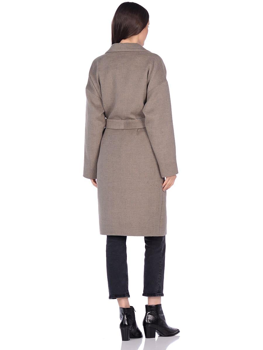 Женское демисезонное пальто hr-001a светло-оливковое фото-3