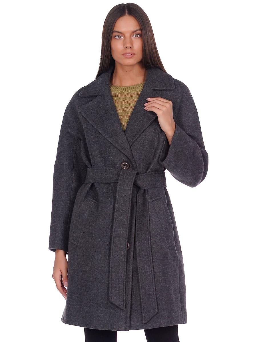 Женское демисезонное пальто hr-018 зеленое фото-2