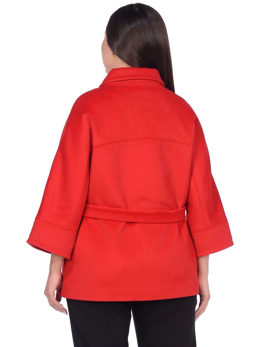 Женское демисезонное пальто hr-017A красное фото-3