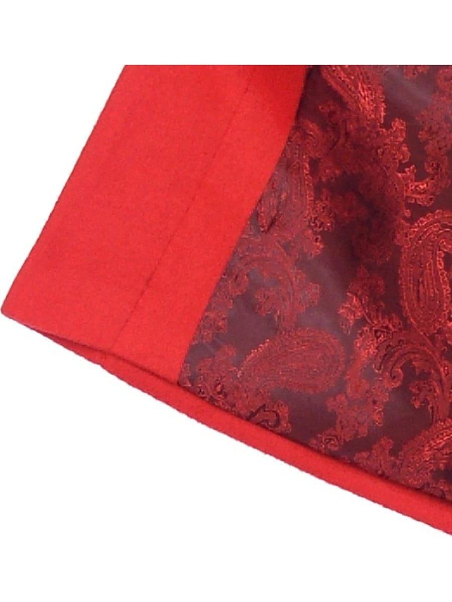 Женское демисезонное пальто hr-017A красное фото-4